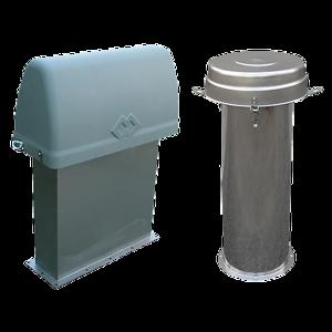 ventilationsfilter för småbehållare, bingar och fickor