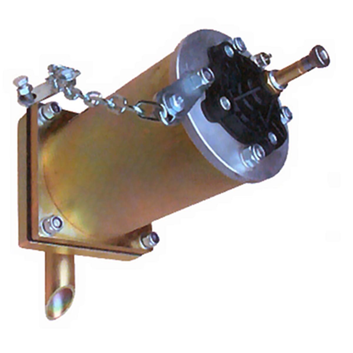 Luftkanon PG skjuter en luftkniv längs väggen i silo eller behållare