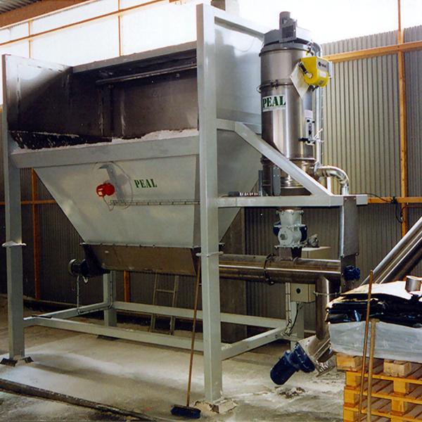 tippficka för hjullastare med skruvtransportör i rostfritt stål