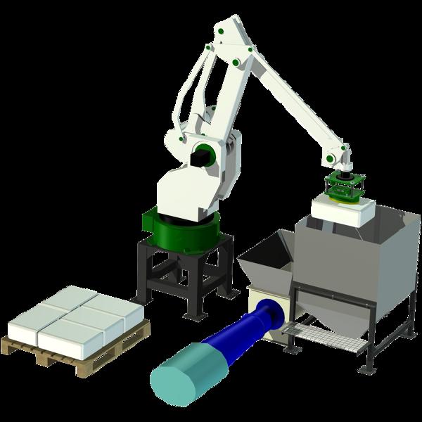 Säcktömning med robot