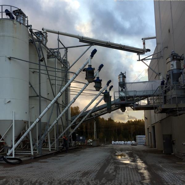 utlastningsbälgar och silos för torrbruk