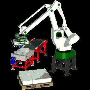 robotpalleterare för småsäck